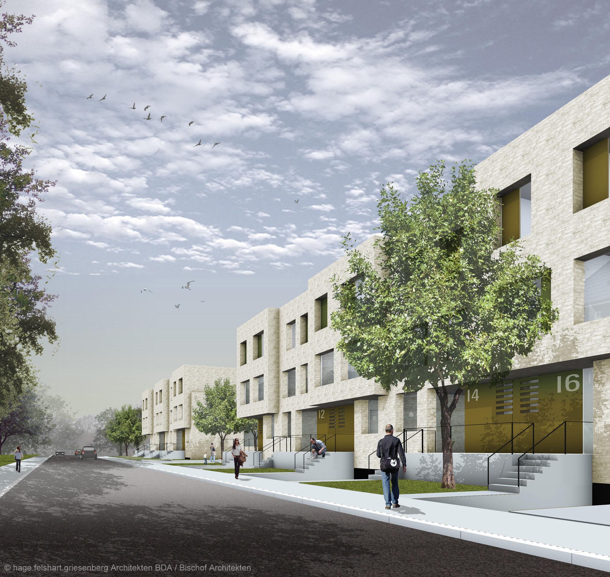 Errichtung von 33 stadth usern bruch suhr architekten - Architekten lubeck ...
